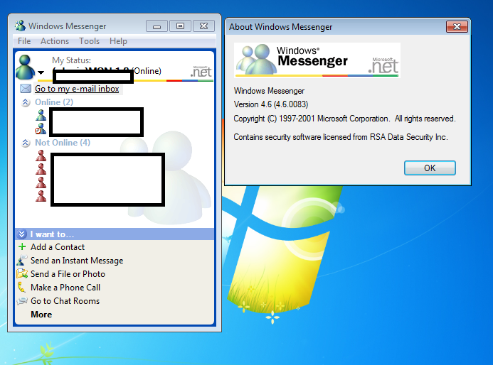 Made an MSN 7 server -- anyone want to chat? - Escargot MSN