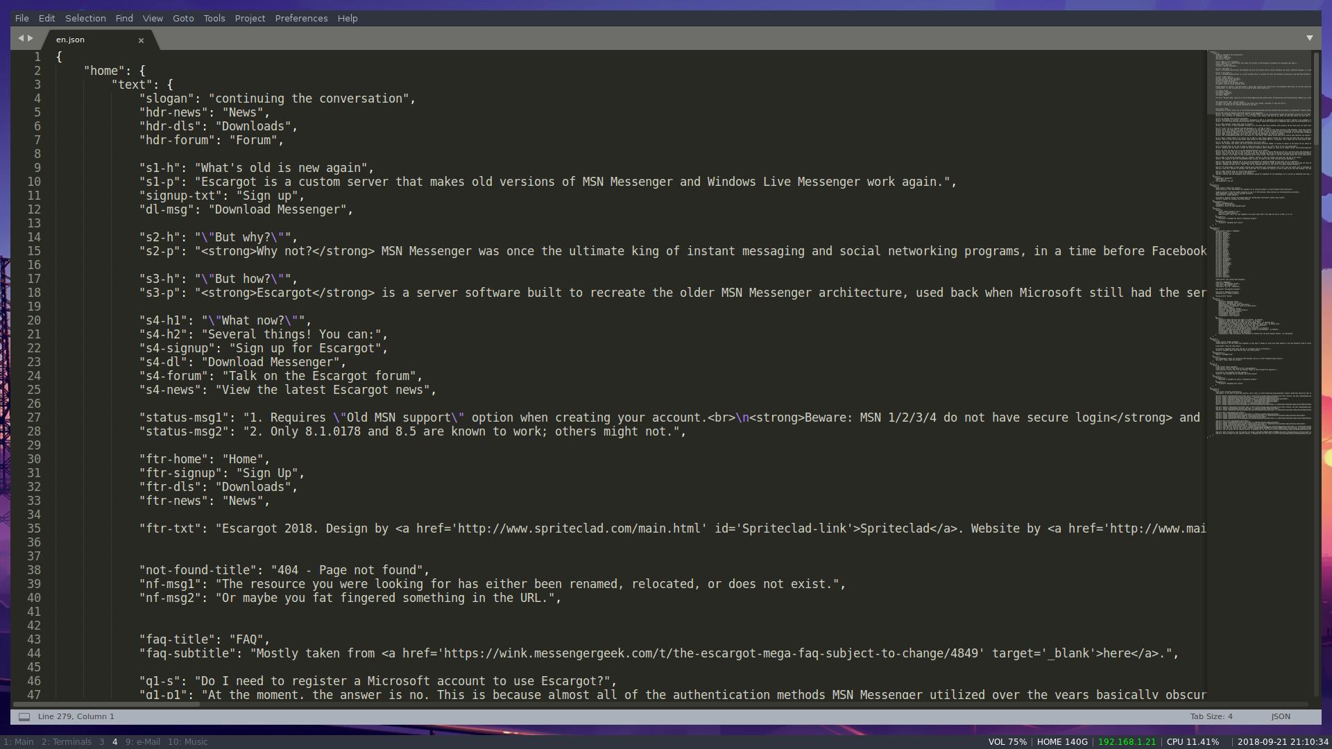 I need translators for the new Escargot website - Escargot MSN