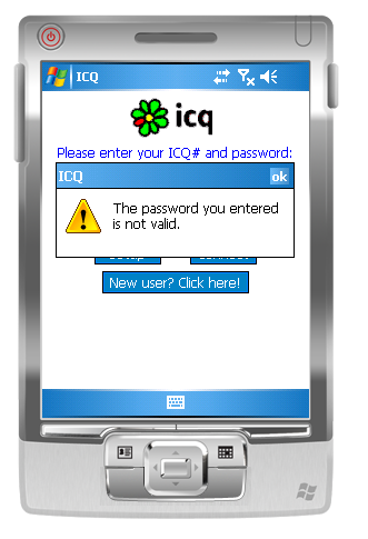 You cannot recover the password - ICQ - MessengerGeek