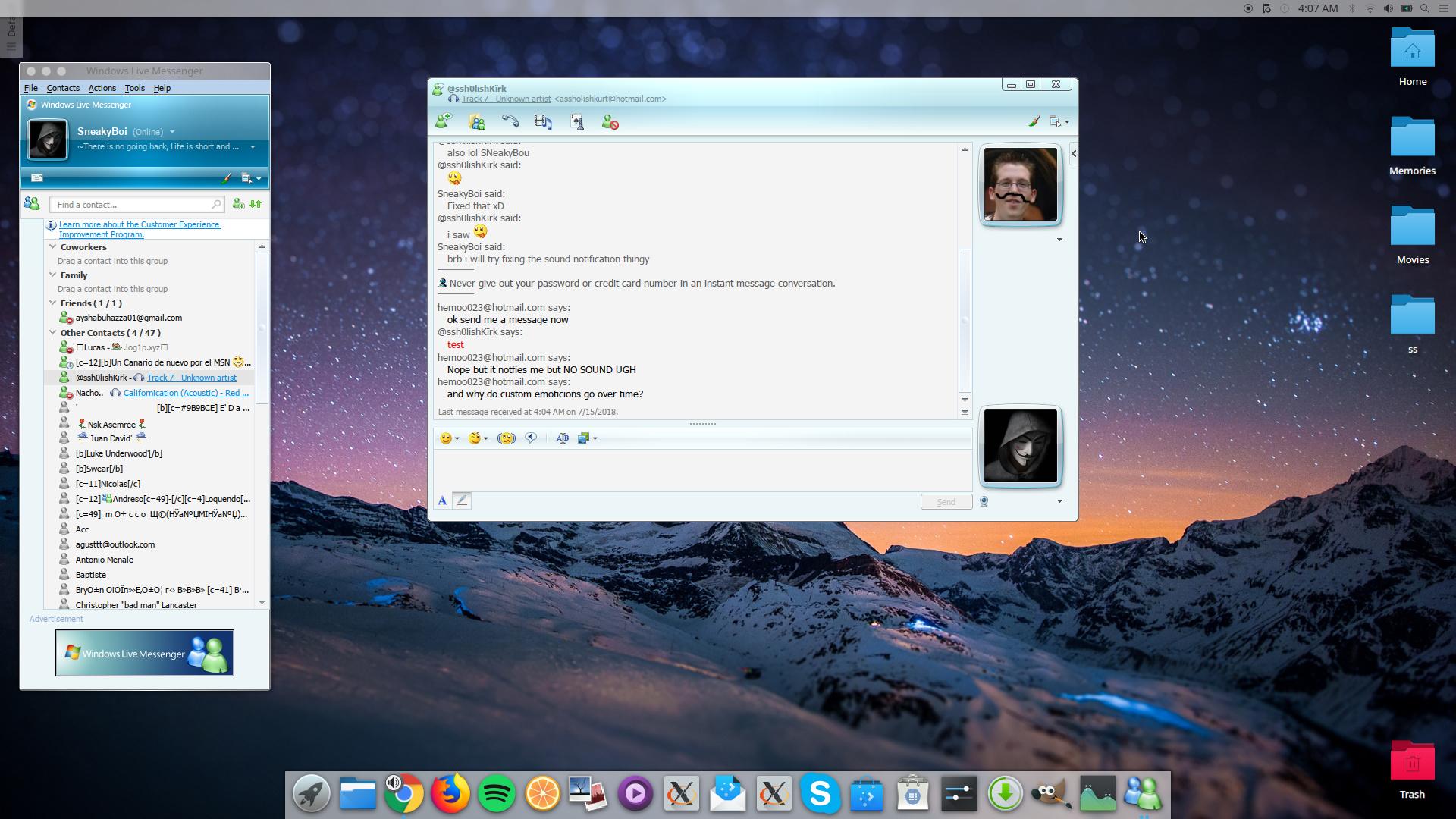 Got windows live messenger 8 5 working on Linux - Messenger