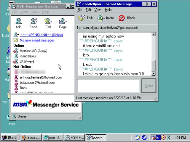 msn windows 98