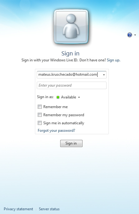 Hotmail Login Live Messenger
