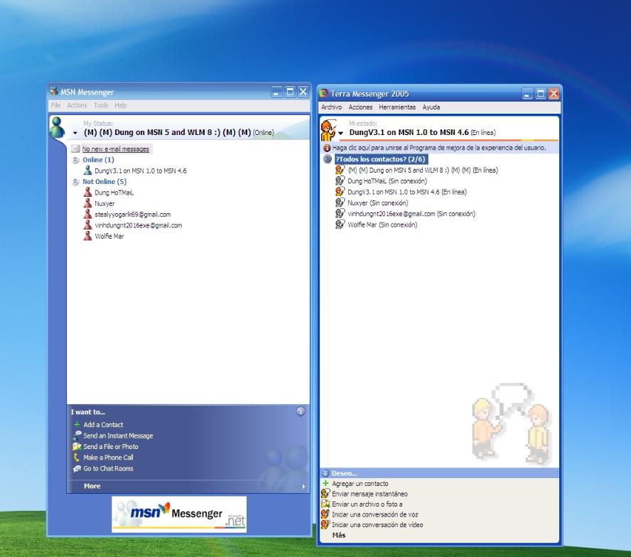 Terra Messenger 2005 - Escargot MSN Server - MessengerGeek