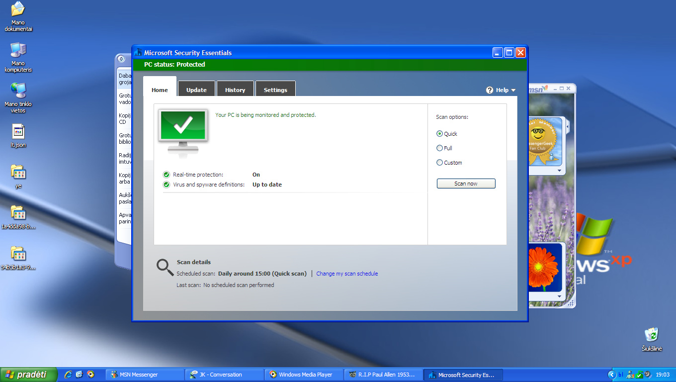 mse antivirus software free download for windows xp