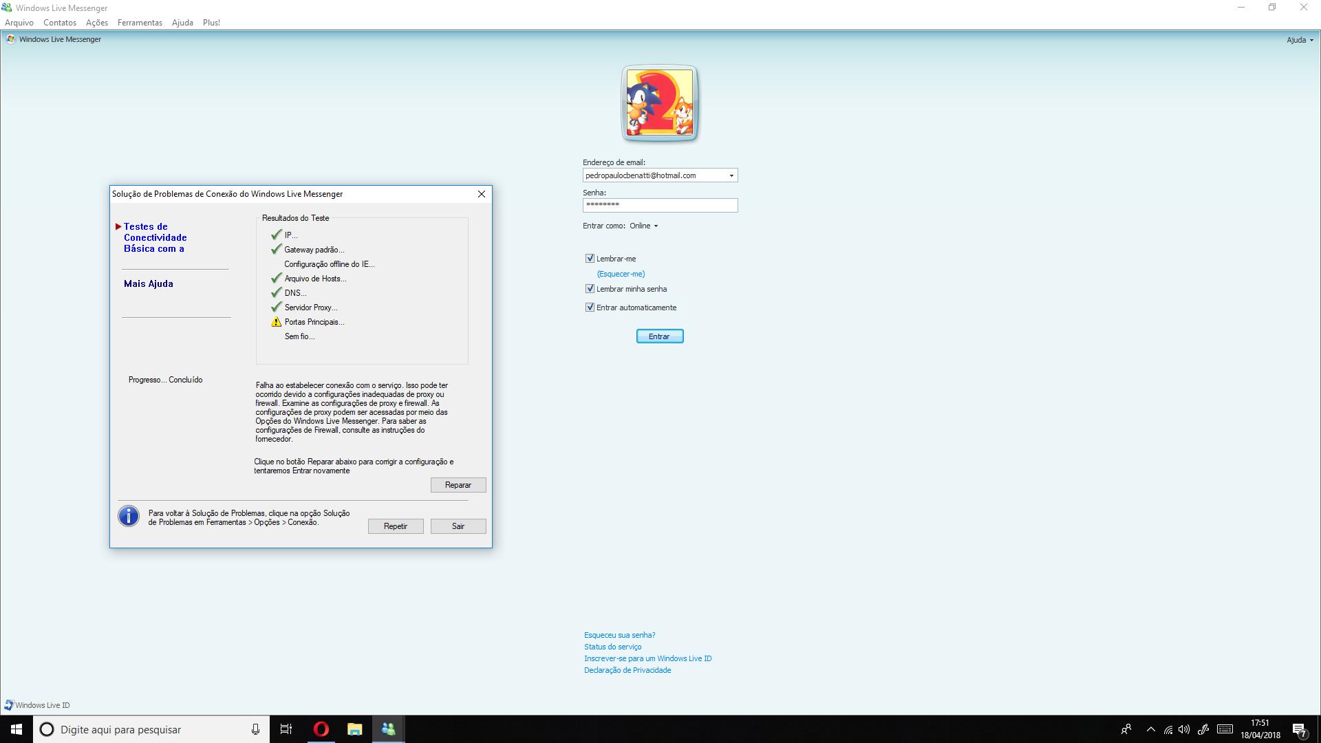Windows Live Messenger cant connect - Messenger Support - MessengerGeek