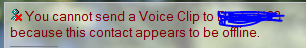 i need to send voice clip but its not working